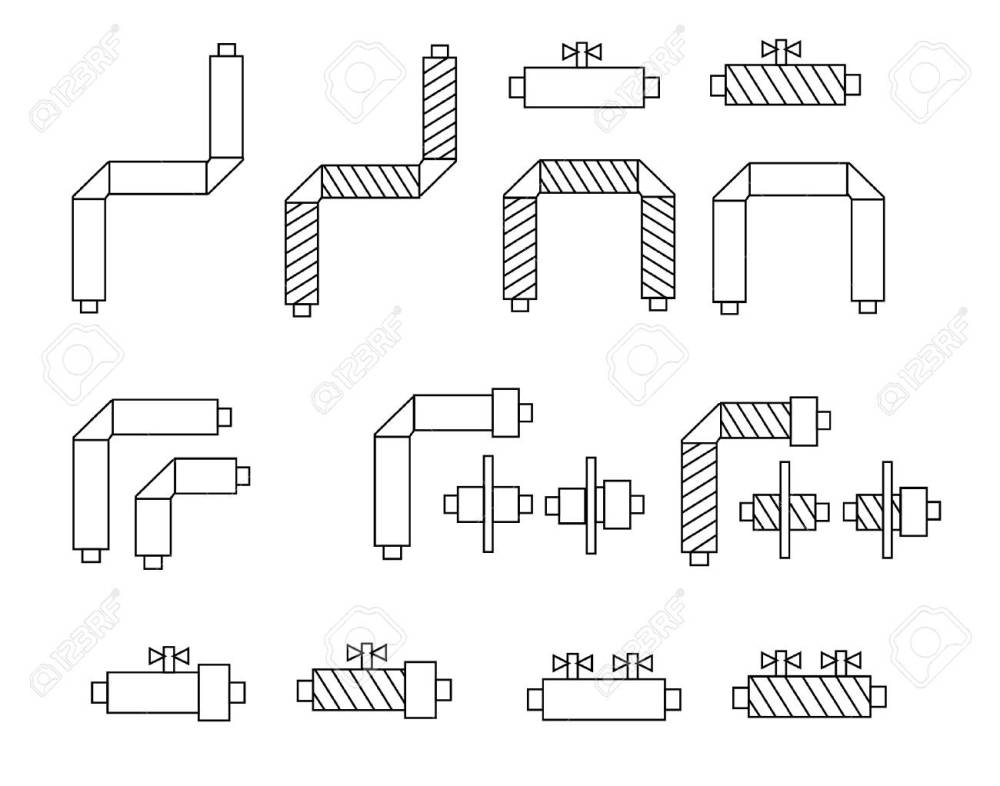 medium resolution of icons of pipes in polyurethane foam insulation and schematic diagram components for websites posters banners