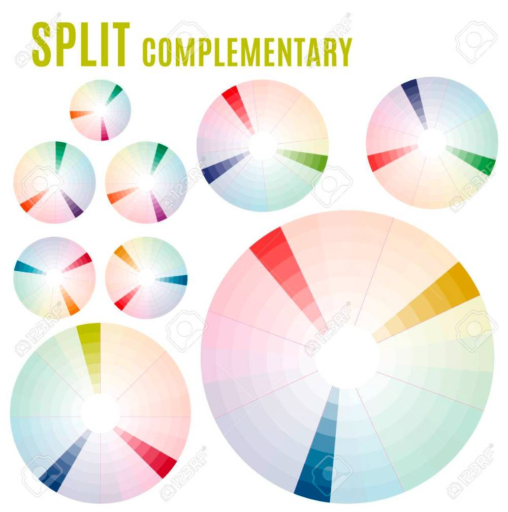 medium resolution of psychology of color perception harmonies of colors basic split complementary set part 2
