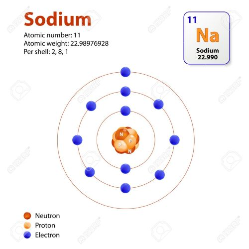 small resolution of atom sodium this diagram shows the electron shell configuration for the sodium atom stock vector