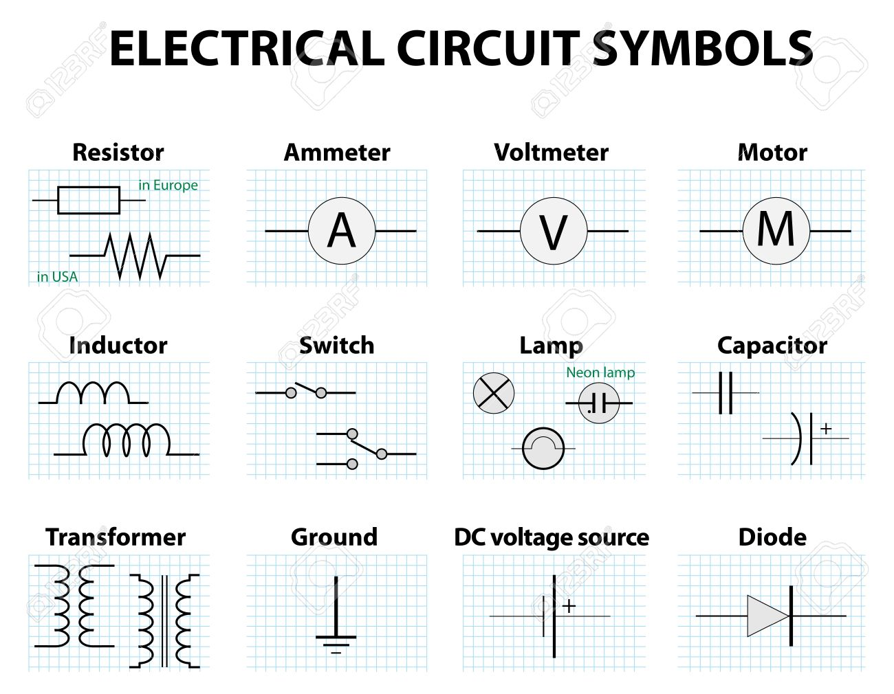 hight resolution of electronic symbol electric circuit symbol element set pictogram electrical wiring symbols automotive electronic symbol electric circuit