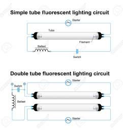 single and double tube fluorescent lighting circuit simple vector emergency fluorescent light wiring diagram fluorescent light wiring diagram [ 1300 x 1300 Pixel ]