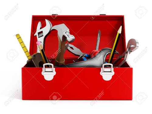 small resolution of red toolbox full of hand tools isolated on white background stock photo 47188618