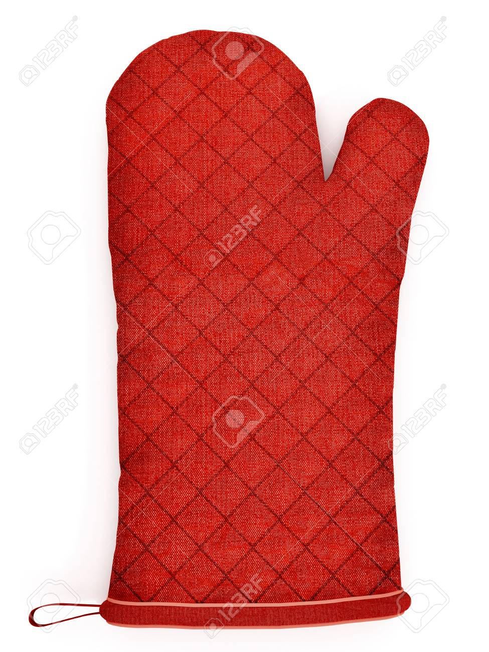 kitchen gloves table round red isolated on white background stock photo 51680123