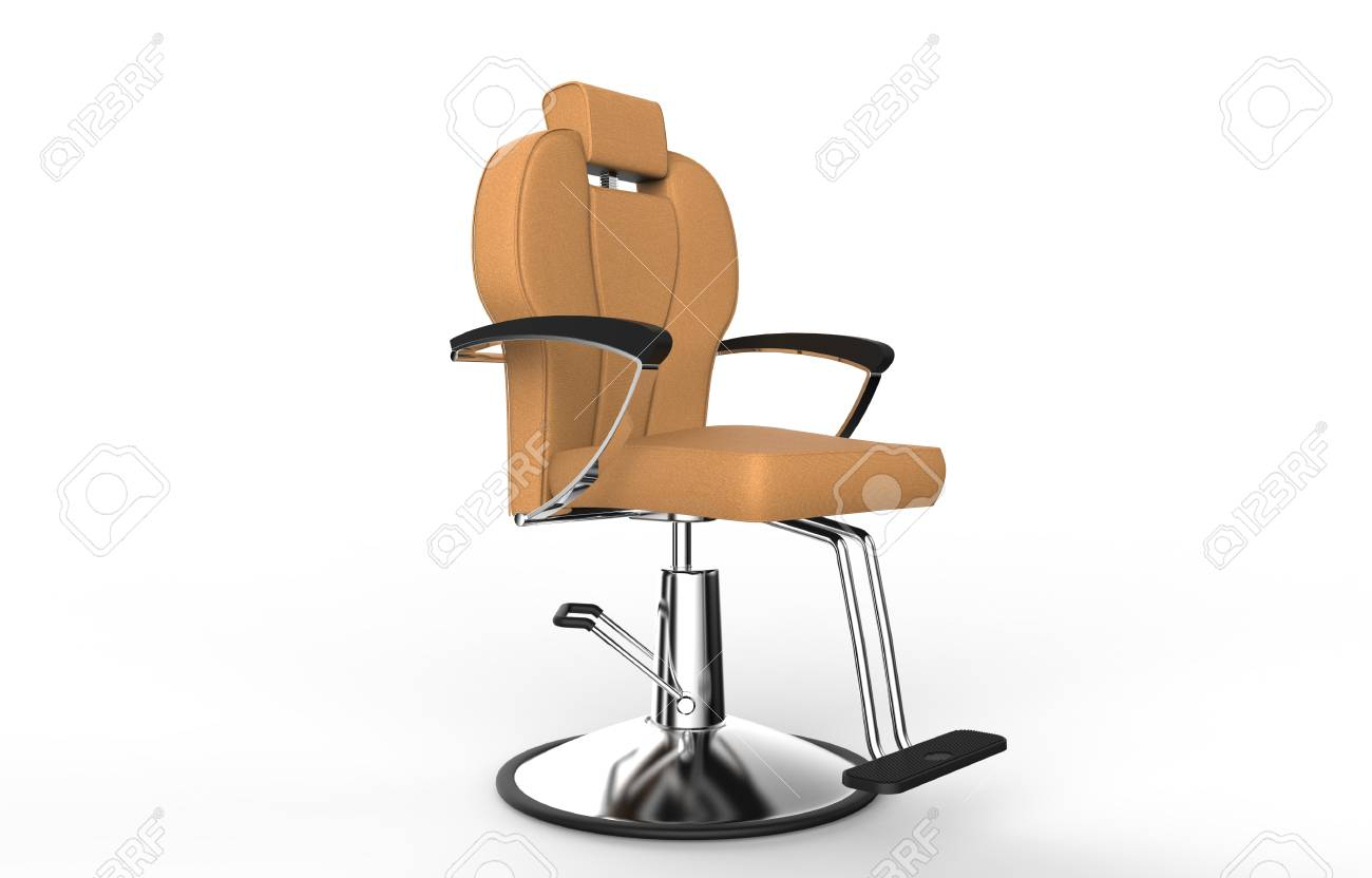 orange chair salon covers wholesale brown hair stock photo picture and royalty 44870797
