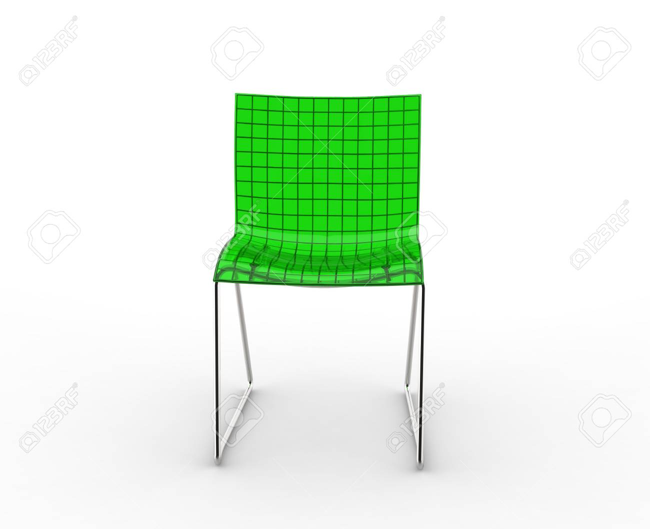 modern plastic chair ergonomic green front view stock photo picture and 44860474