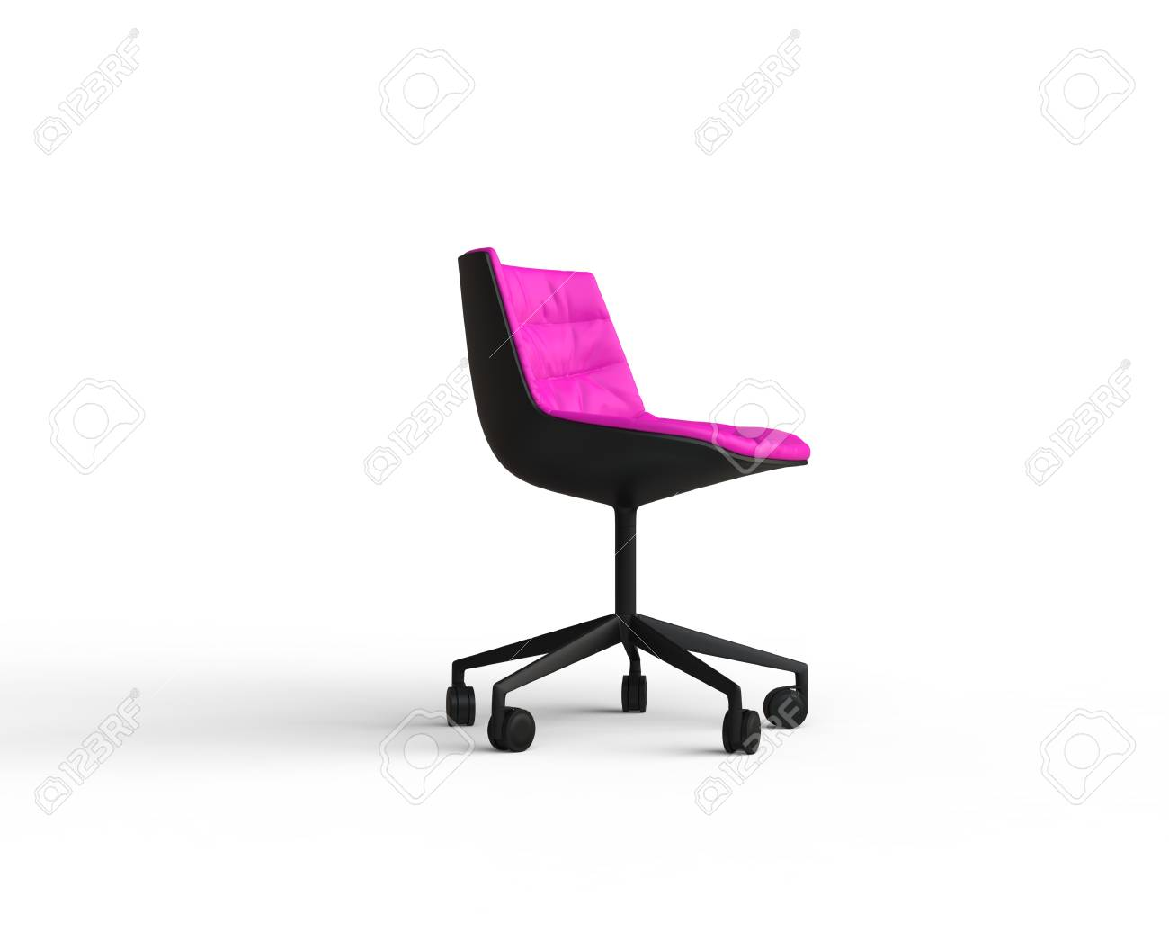 Pink Office Chairs Pink Modern Office Chair On White Background Side View