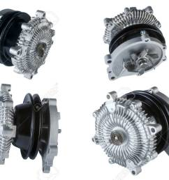 many pictures of engine cooling fan clutch and water pump stock photo 48094848 [ 1300 x 866 Pixel ]
