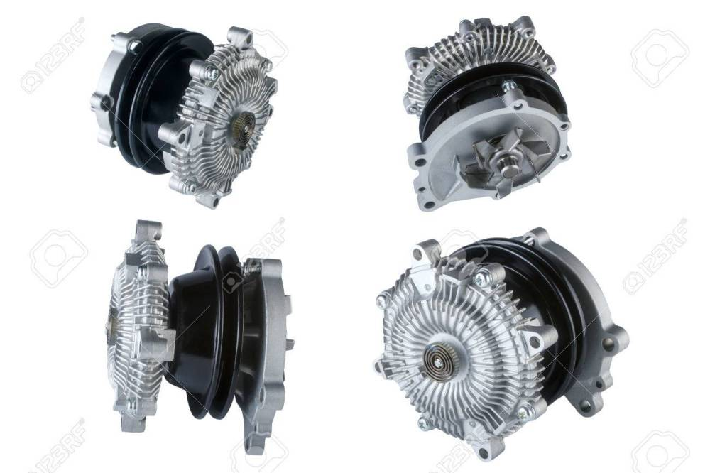 medium resolution of many pictures of engine cooling fan clutch and water pump stock photo 48094848