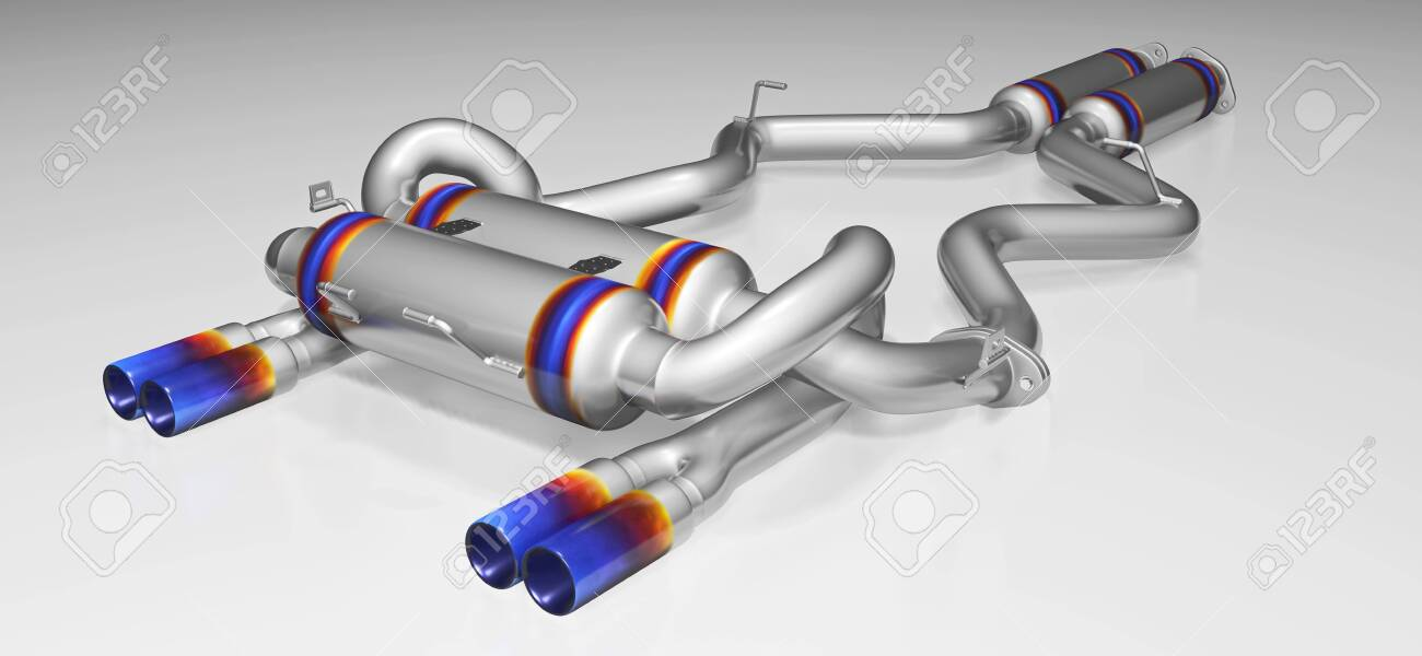 tuning exhaust system for a sports car car muffler exhaust