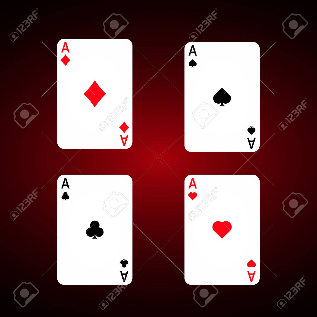 Ace Set Vector Diamonds Ace Spade Ace Club Ace Playing Cards Royalty Free Cliparts Vectors And Stock Illustration Image 74519126