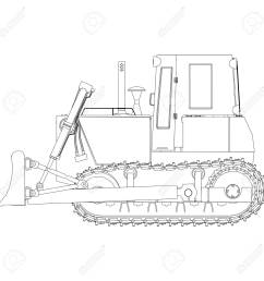outline bulldozer construction icon vector excavator tractor equipment road illustration shovel stock vector 85494760 [ 1300 x 1300 Pixel ]