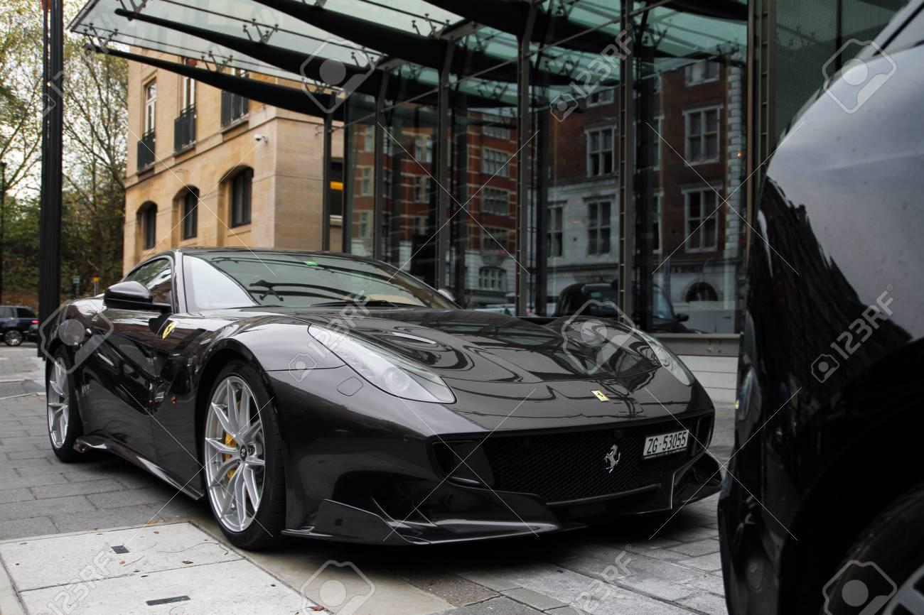 November 2017 London United Kingdom Ferrari F12tdf Parked