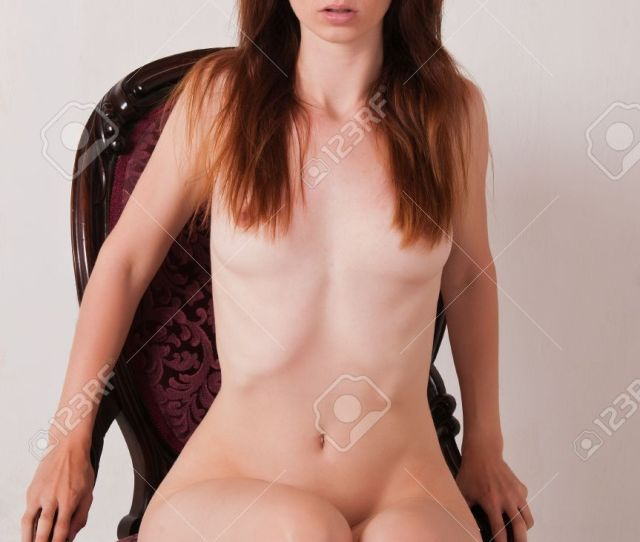 Pretty Brown Haired Girl Nude In An Antique Chair Stock Photo 9711950