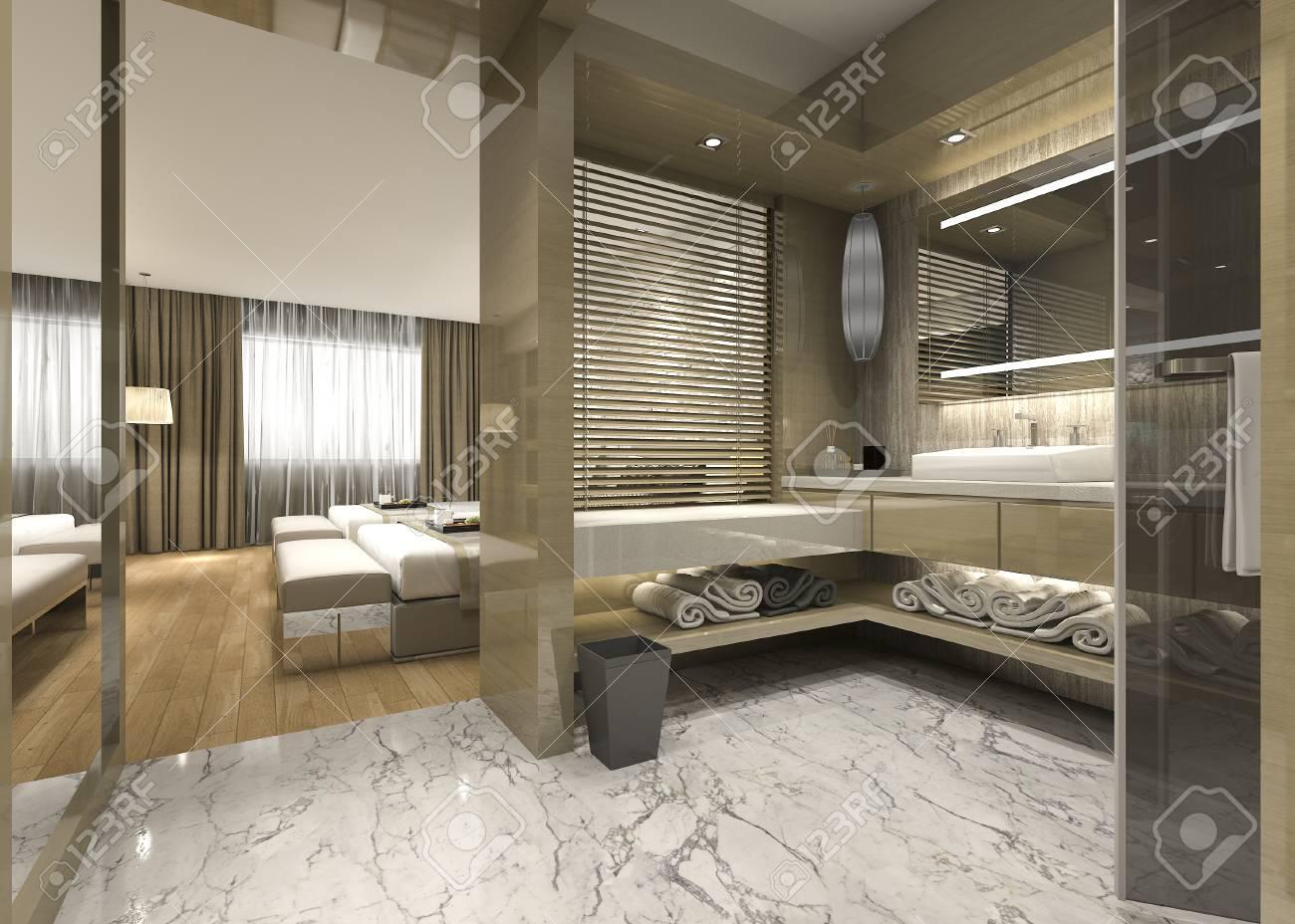 salle de bain moderne de luxe