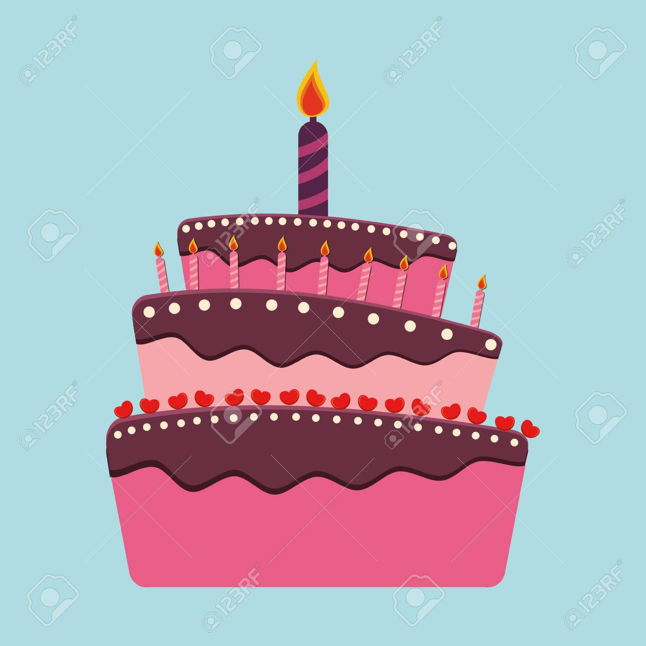 hight resolution of birthday cake and desserts icon design vector illustration