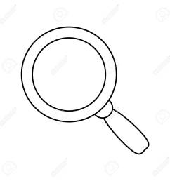magnifying glass lupe stock vector 78751526 [ 1300 x 1300 Pixel ]