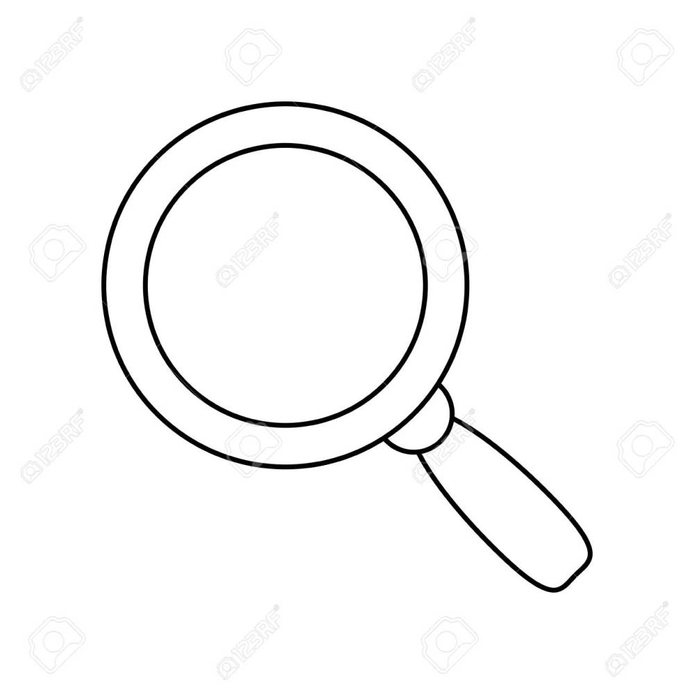 medium resolution of magnifying glass lupe stock vector 78751526