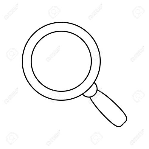 small resolution of magnifying glass lupe stock vector 78751526