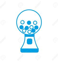 gumball machine icon over white background vector illustration stock vector 82762249 [ 1300 x 1300 Pixel ]