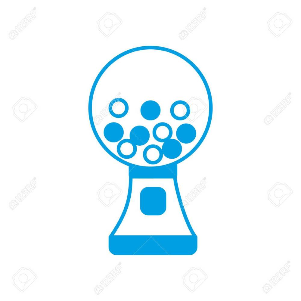 medium resolution of gumball machine icon over white background vector illustration stock vector 82762249