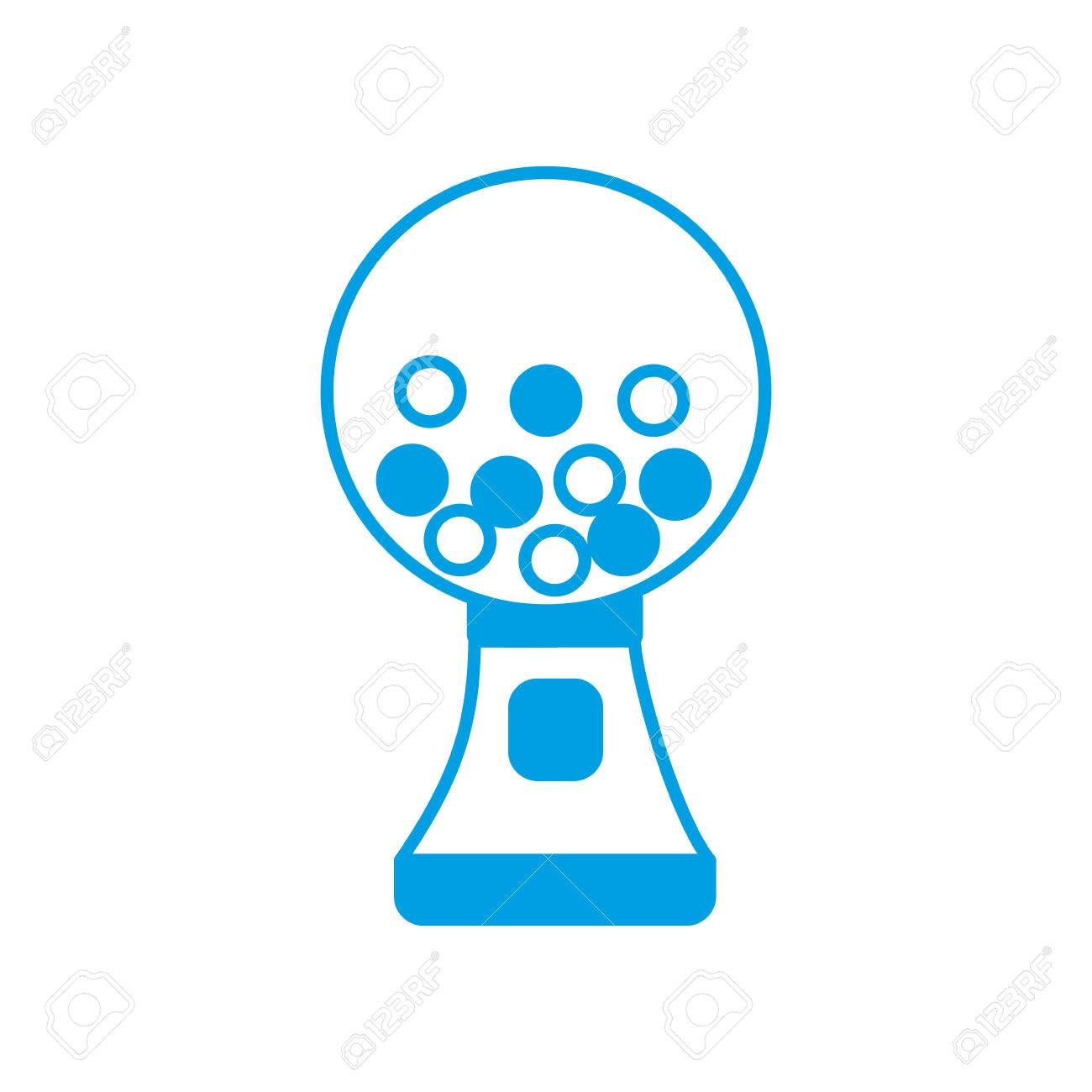 hight resolution of gumball machine icon over white background vector illustration stock vector 82762249