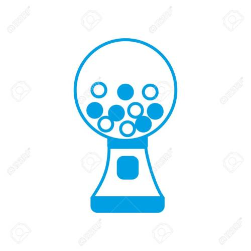 small resolution of gumball machine icon over white background vector illustration stock vector 82762249