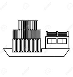 freighter cargo ship icon vector illustration graphic design stock vector 84823478 [ 1300 x 1300 Pixel ]