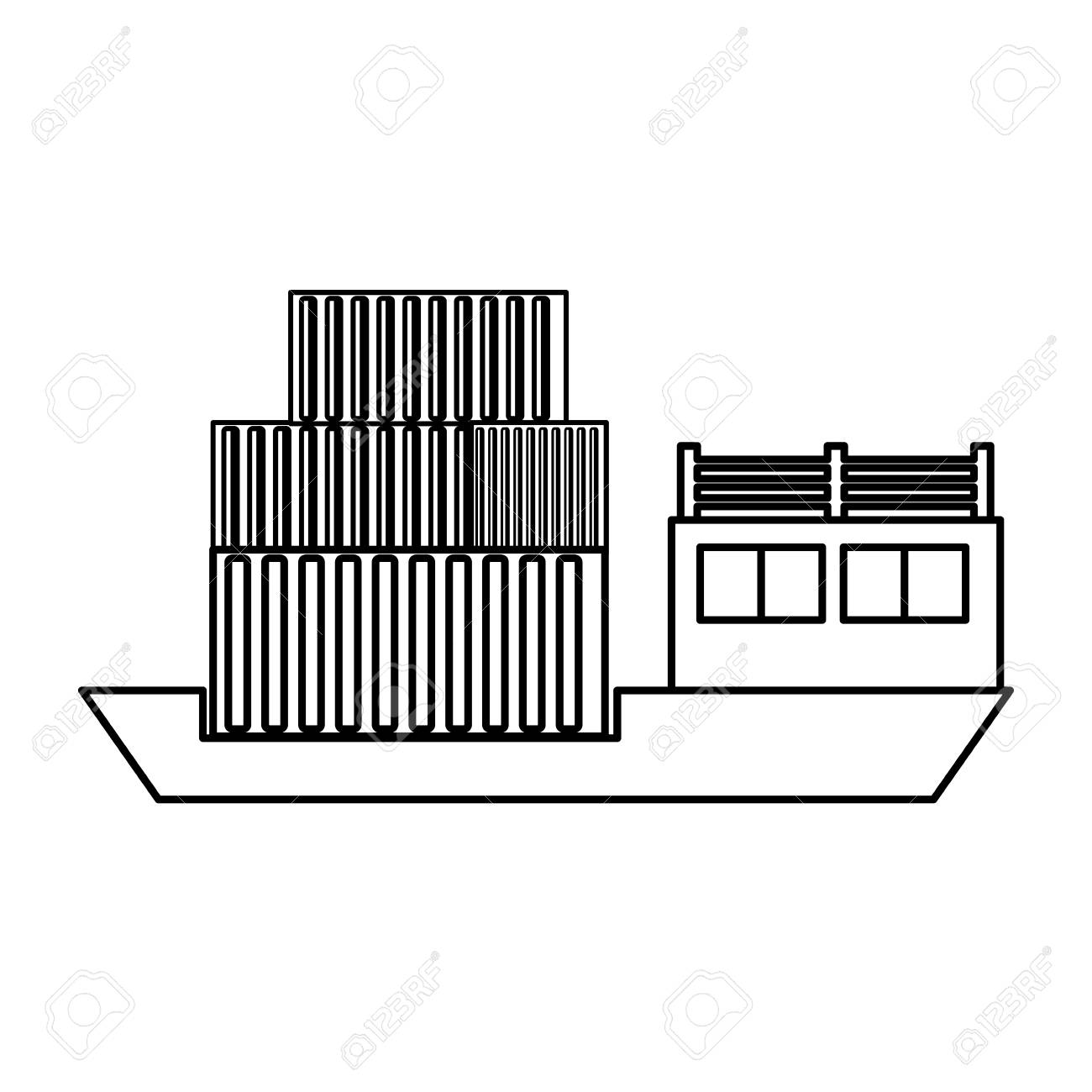 hight resolution of freighter cargo ship icon vector illustration graphic design stock vector 84823478