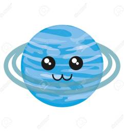 kawaii uranus icon over white background vector illustration stock vector 88540750 [ 1300 x 1300 Pixel ]