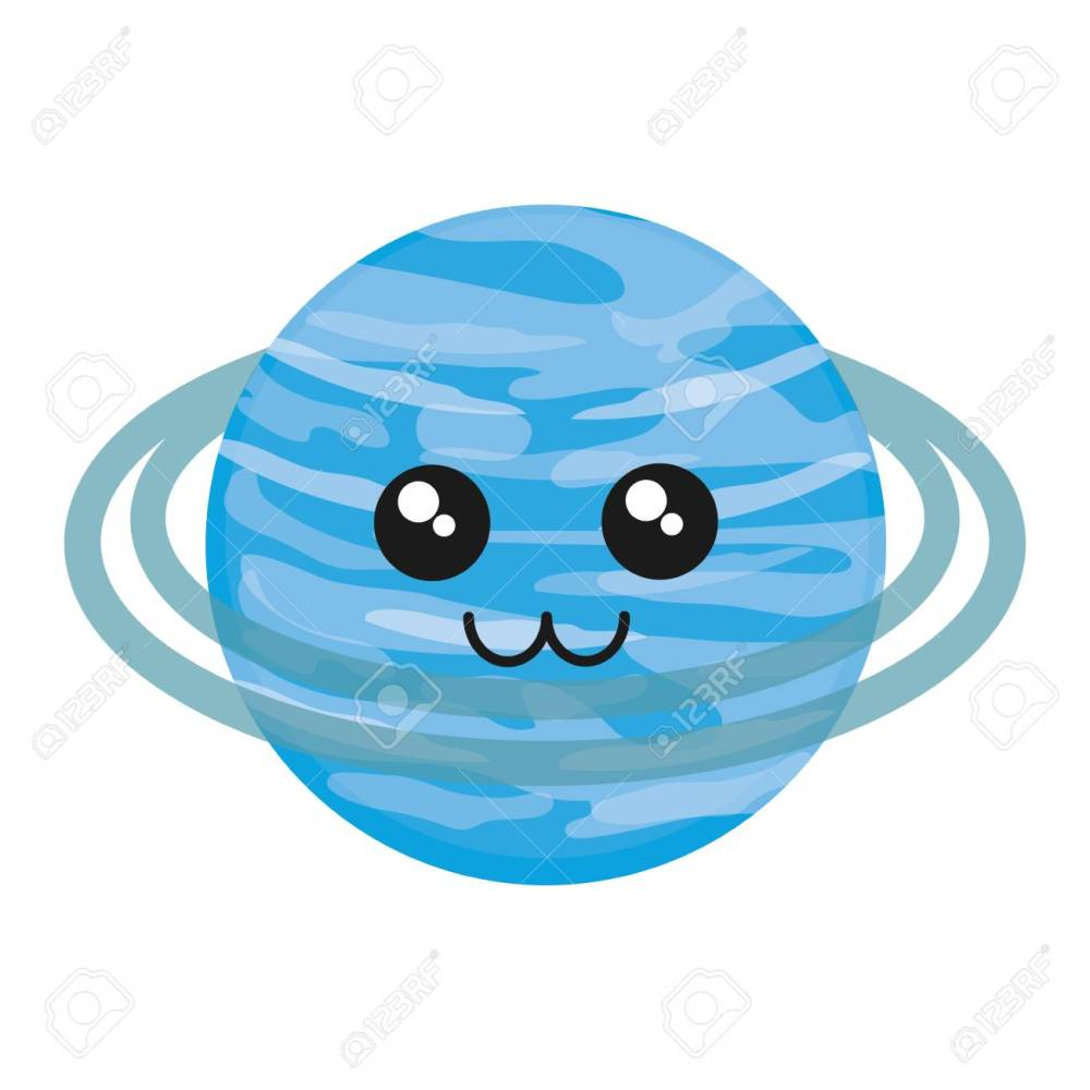 medium resolution of kawaii uranus icon over white background vector illustration stock vector 88540750