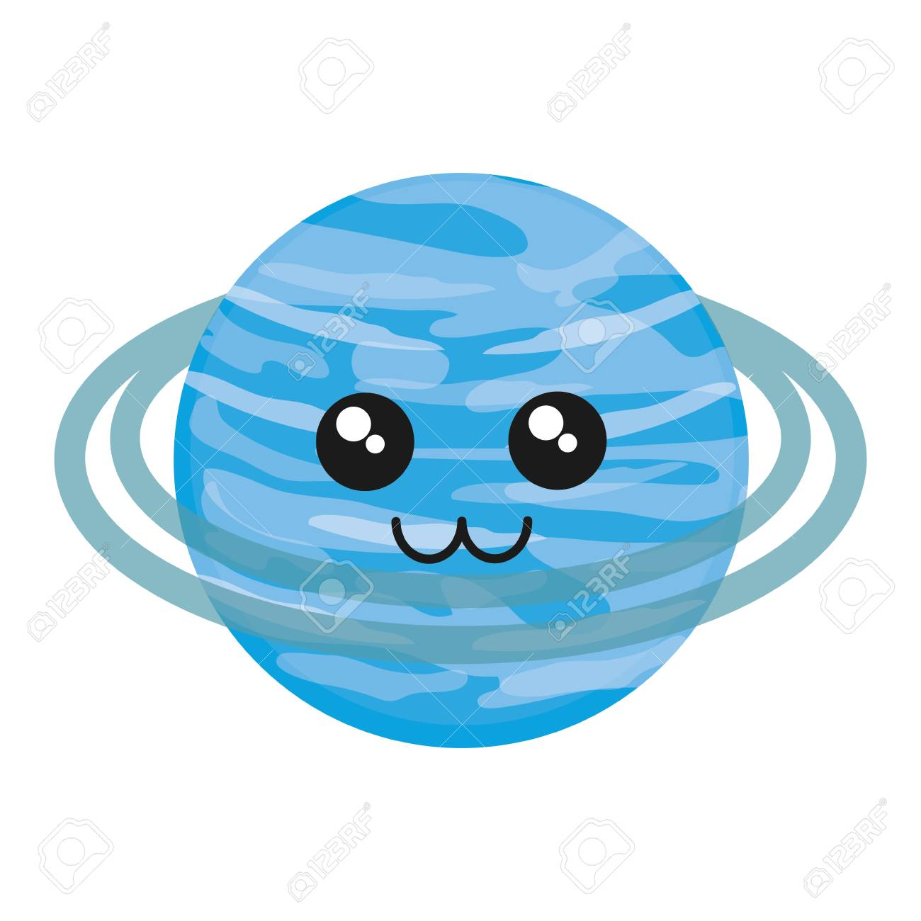 hight resolution of kawaii uranus icon over white background vector illustration stock vector 88540750