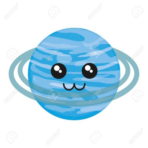 small resolution of kawaii uranus icon over white background vector illustration stock vector 88540750