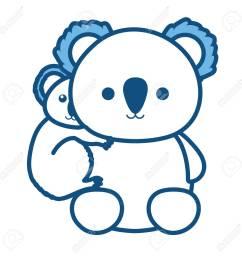 koala bear illustration stock vector 92215407 [ 1300 x 1300 Pixel ]