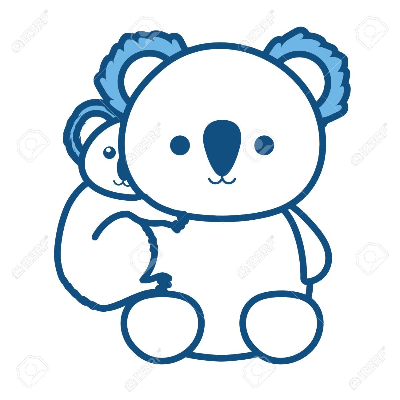 hight resolution of koala bear illustration stock vector 92215407