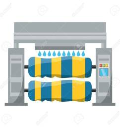 car wash machine icon over white background colorful design vector illustration stock vector 92350516 [ 1300 x 1300 Pixel ]