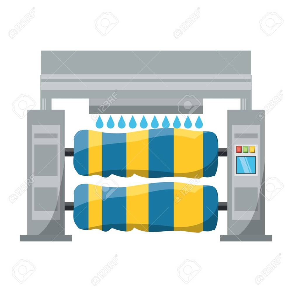 medium resolution of car wash machine icon over white background colorful design vector illustration stock vector 92350516