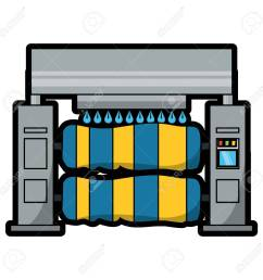 car wash machine icon over white background colorful design vector illustration stock vector 92397992 [ 1300 x 1300 Pixel ]