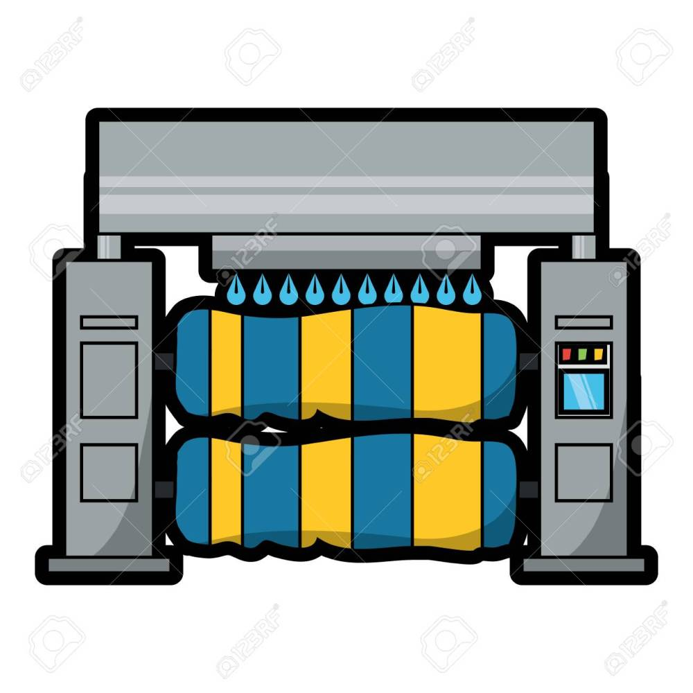 medium resolution of car wash machine icon over white background colorful design vector illustration stock vector 92397992