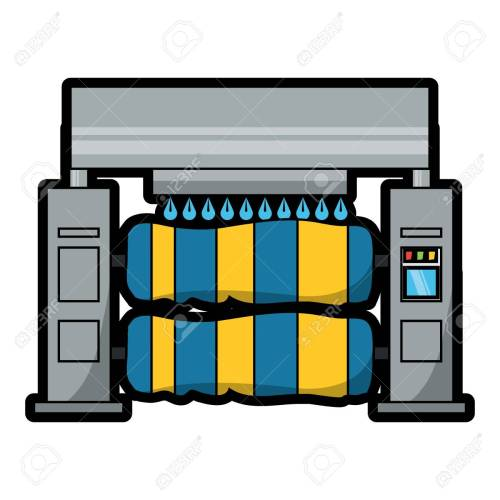 small resolution of car wash machine icon over white background colorful design vector illustration stock vector 92397992