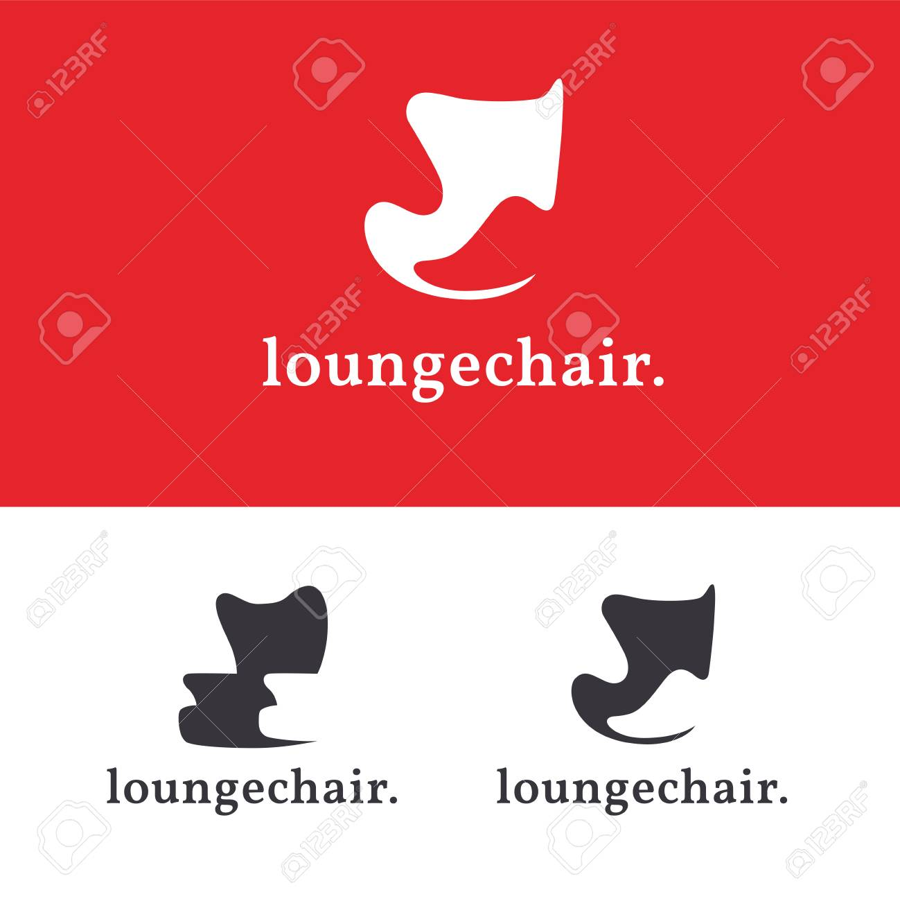 modern armchair design swoop arm chair set of furniture logo templates concepts lounge iconic sign