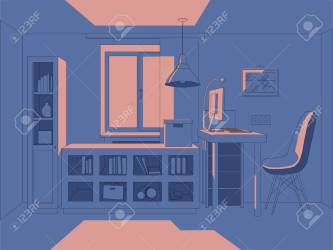 Vector 3D Illustration Living Room In Simple Colors Interior Royalty Free Cliparts Vectors And Stock Illustration Image 131716251
