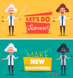 photo stock vector crazy old scientist funny character cartoon vector illustration mad professor science experiment rem [ 1300 x 1300 Pixel ]