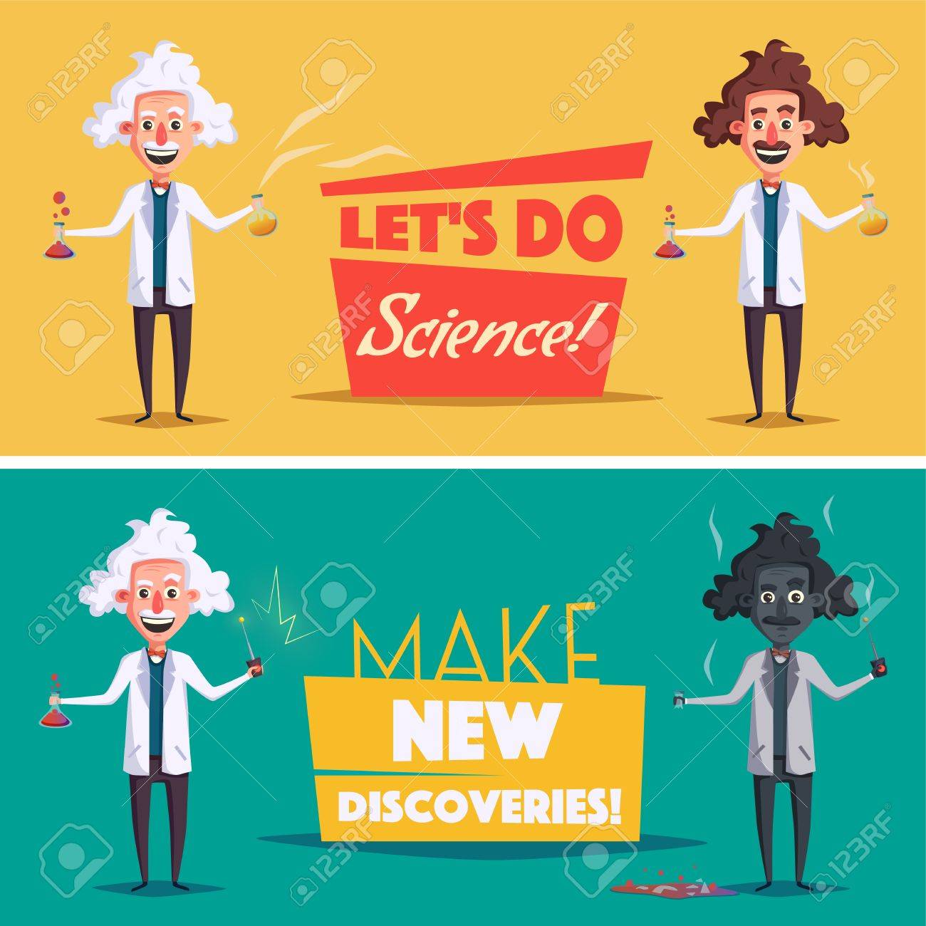 hight resolution of photo stock vector crazy old scientist funny character cartoon vector illustration mad professor science experiment rem