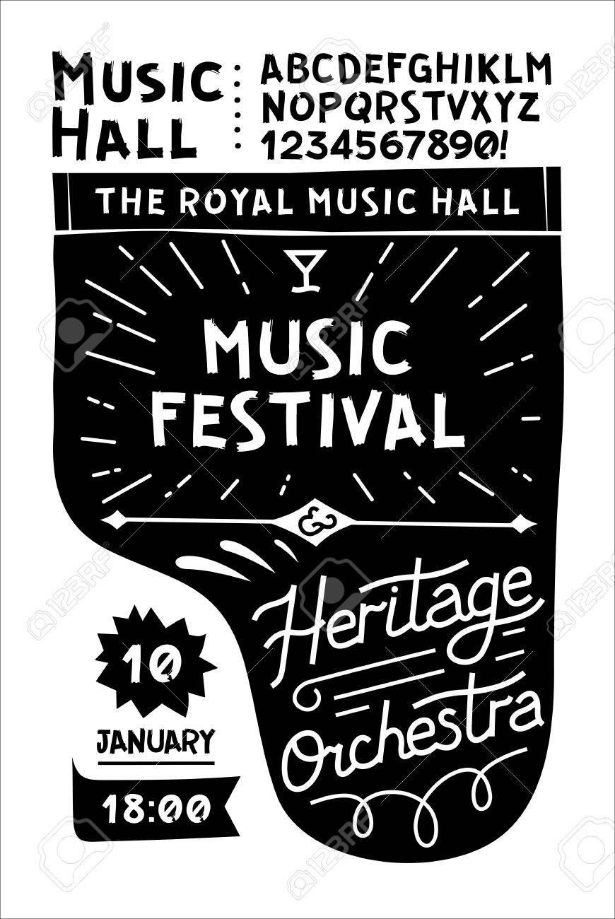 modele noir et blanc pour affiches de musique vintage vintage en noir et blanc piano de concert avec votre texte sur le dessus