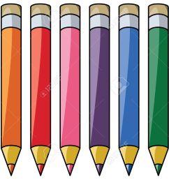 colourful pencils clipart stock vector 8355035 [ 1300 x 990 Pixel ]