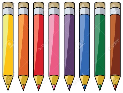 small resolution of colourful pencils clipart stock vector 8355035