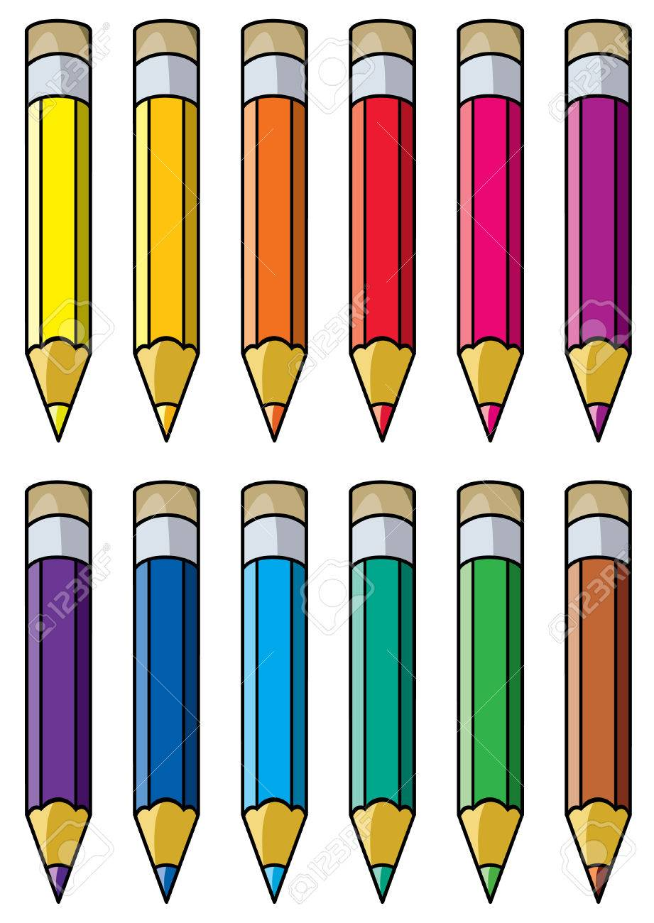 hight resolution of vector vector colourful pencils clipart