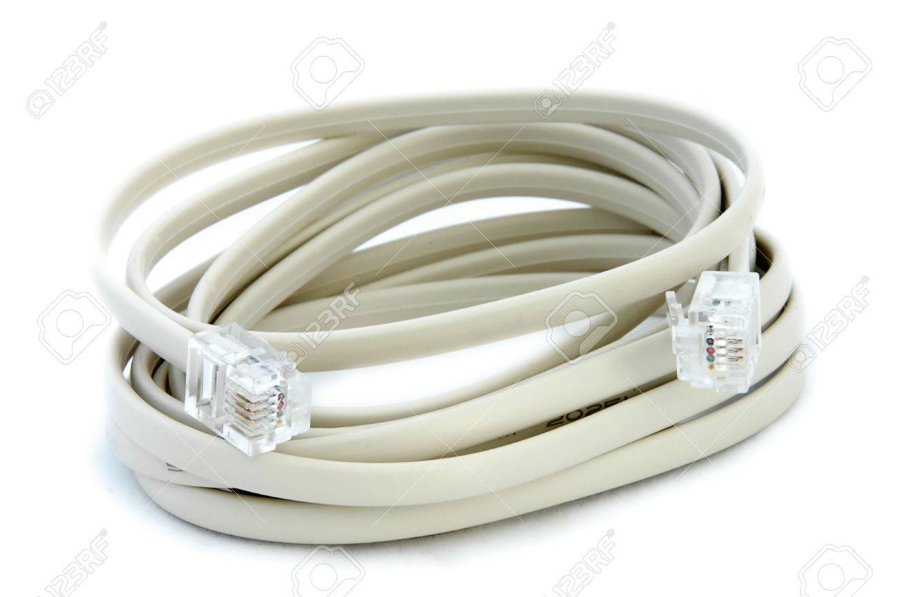 hight resolution of an isolated image of a phone data cable rj11 stock photo 3934290