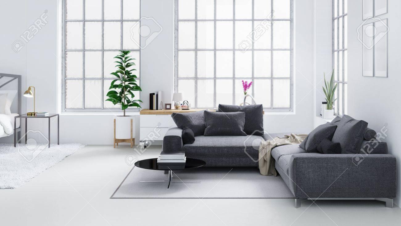 Salon Moderne Scandinave | Salon Moderne Scandinave Avec La ...