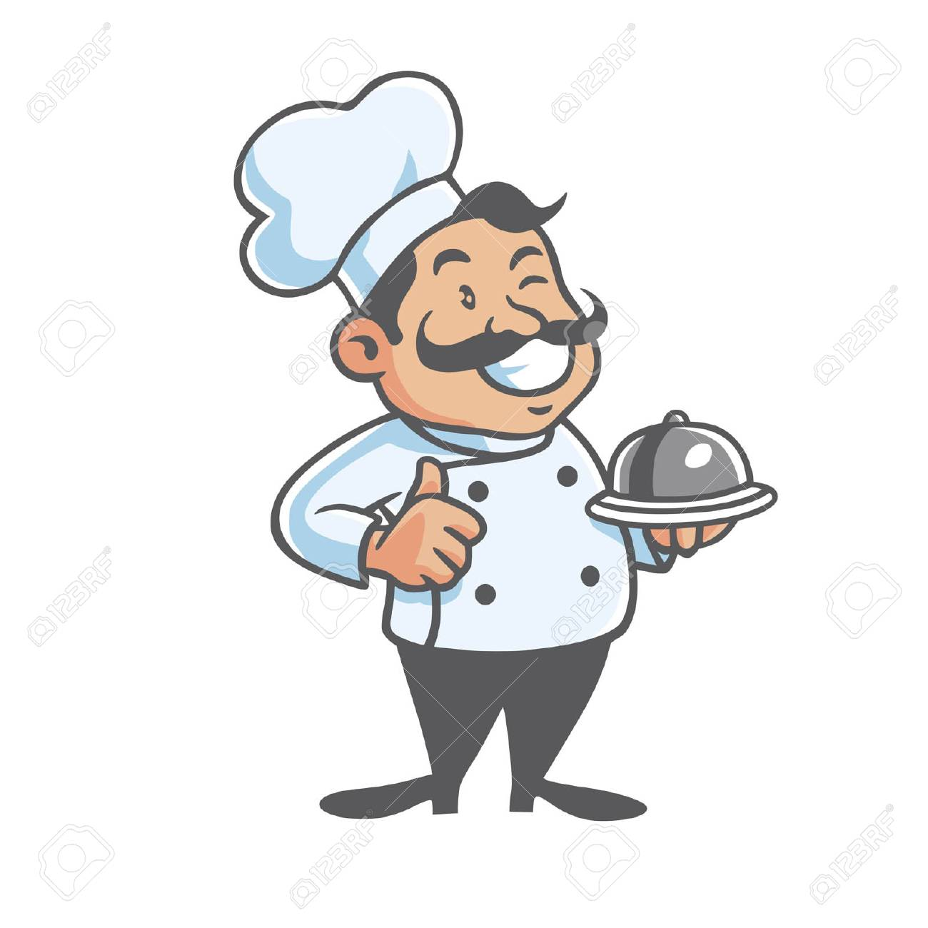 hight resolution of happy chef mascot clipart stock vector 58752045